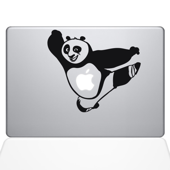 Kung Fu Panda Macbook Decal Sticker Black