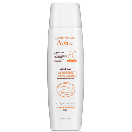 Avene Mineral Light Hydrating Sunscreen Lotion SPF 50 Face & Body