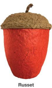 Russet Red Acorn Urn