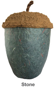 Stone Blue Acorn Urn