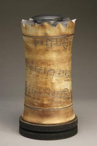 Dona Nobis Pacem - musical score inscribed on urn's surface.     AVAILABLE NOW  $1,100.00
