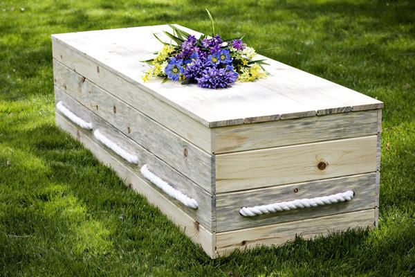 The Plain Pine Box Casket Kit - Natural Burial Company