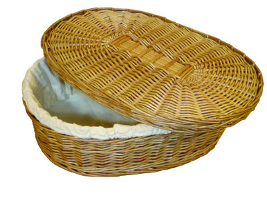 Natural Burial Company biodegradable woven willow pet coffin