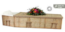 Bamboo Coffin Kit with viewing lid (3/4 length partial; open at the head)