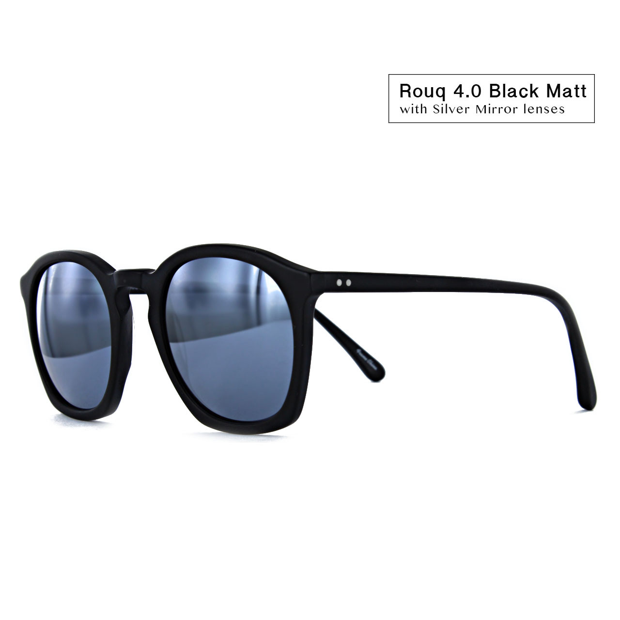 Rouq 4.0 Black Matt with Silver Mirror Lenses