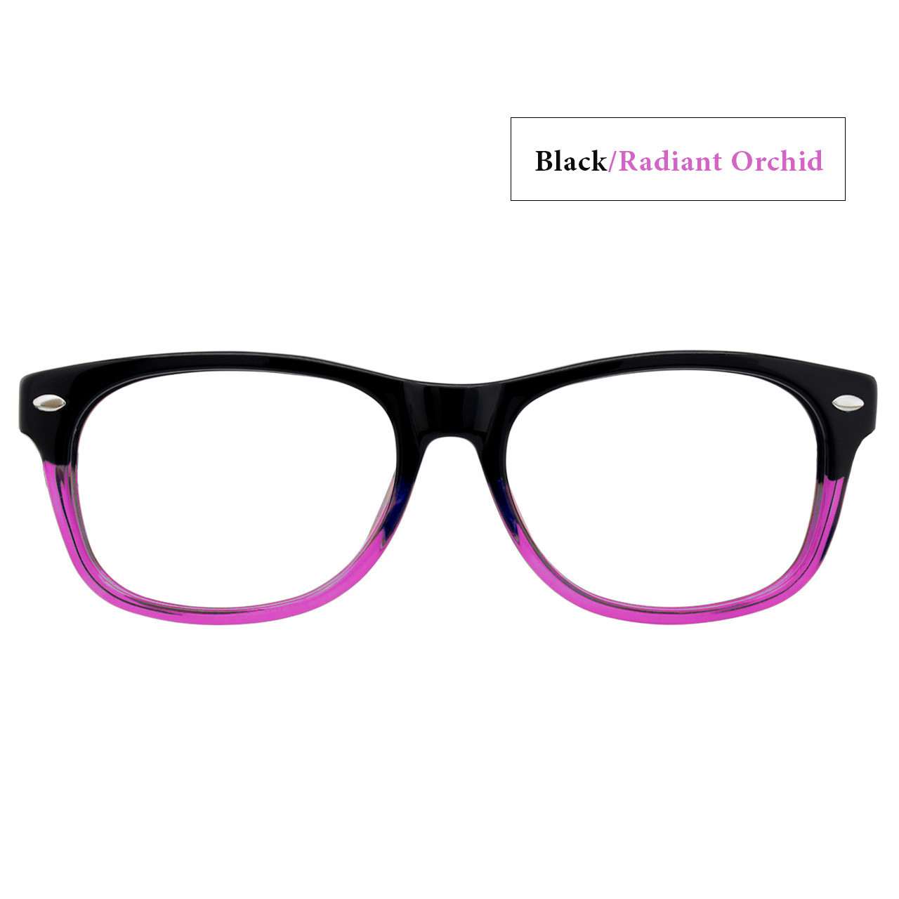 Black/Radiant Orchid with Black Temples