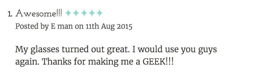 Geek Eyewear style Harry Review