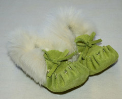 Baby Moccasins - Lime Green