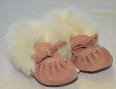 Baby Moccasins - Light Pink