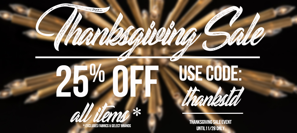 THANKSGIVING SALE - 25% OFF ALL ITEMS