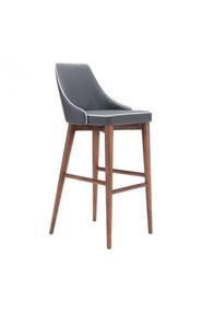 Zuo Modern Moor Bar Chair Dark Gray