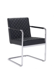 Zuo Modern Quilt Dining Chair Black