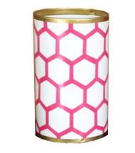 Dana Gibson Pink Mesh Pen Cup