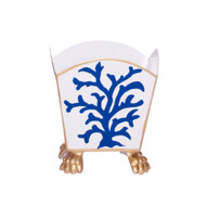 Dana Gibson Navy Coral Cachepot - Small