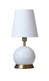 "House of Troy Geo 12"" Ball Mini Accent Lamp  - White"