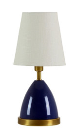 "House of Troy Geo 12"" Parabola Mini Accent Lamp  - Navy Blue"