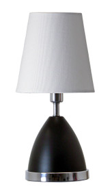 "House of Troy Geo 12"" Parabola Mini Accent Lamp  - Black Matte"