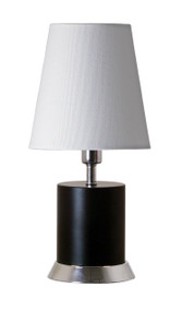 "House of Troy Geo 12"" Cylinder Mini Accent Lamp  - Black Matte"