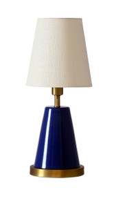 "House of Troy Geo 13"" Cone Mini Accent Lamp  - Navy Blue"