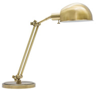 House of Troy Addison Adjustable Pharmacy Desk Lamp - Antique Brass