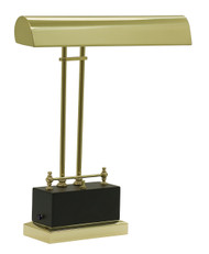 House of Troy Battery Operated LED Piano Lamp - Black & Brass
