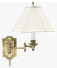 House of Troy Club Wall Swing Arm Lamp - Antique Brass