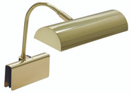 House of Troy Grand Piano Halogen Clamp Lamp - Polished Brass