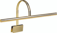 House of Troy Grand Piano Clamp Lamp - Polished Brass
