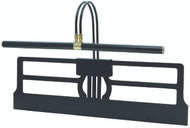 House of Troy Grand Piano Clamp Lamp - Black & Brass