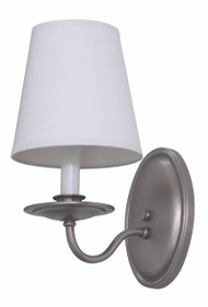 House of Troy Lake Shore Wall Sconce - Satin Pewter