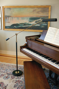 House of Troy Grand Piano Counter Balance Floor Lamp - Black & Brass