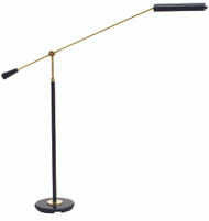 House of Troy Grand Piano Counter Balance LED Floor Lamp - Black & Brass