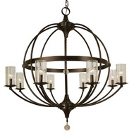 "Framburg Lighting 42"" 8-Light Matte Black Compass Foyer Chandelier"