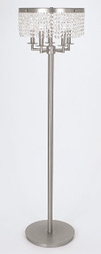"Framburg Lighting 58"" 5-Light Polished Silver Princessa Portable Floor Lamp"