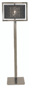 "Framburg Lighting 62"" 1-Light Polished Silver Chloe Portable Floor Lamp"
