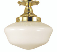 "Framburg Lighting 10"" 1-Light Antique Brass Taylor Flush / Semi-Flush Mount"