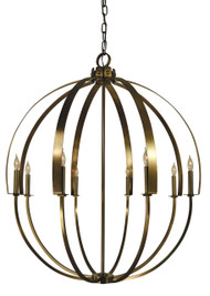 "Framburg Lighting 43"" 8-Light Matte Black Luna Chandelier"