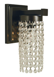 "Framburg Lighting 10"" 1-Light Polished Nickel Gemini Sconce"