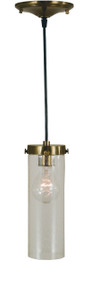 "Framburg Lighting 10"" 1-Light Polished Nickel Hammersmith Pendant"