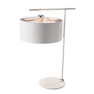 Elstead Lighting Balance White/Polished Nickel Table Lamp