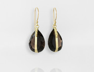 Dorian Webb Smoky Quartz Teardrop Earrings