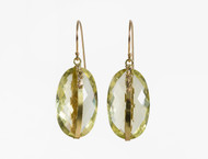 Dorian Webb Lemon Quartz Oval Earrings