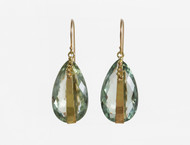 Dorian Webb Large Prasiolite Teardrop Earrings