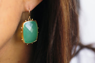 Dorian Webb Faceted Chalcedony Biscuit Earrings