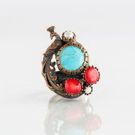 Dorian Webb Turquoise Peacock Ring