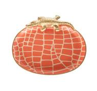 Dana Gibson Croc Tray, Orange