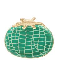 Dana Gibson Croc Tray, Emerald