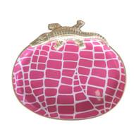 Dana Gibson Croc Tray, Pink