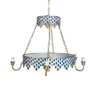 Dana Gibson Parsi in Navy Chandelier