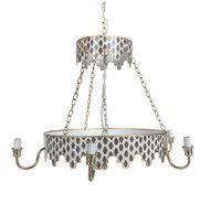 Dana Gibson Parsi in Brown Chandelier